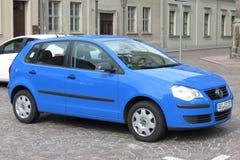 Blue Volkswagen car Stock Photography