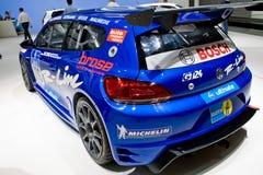 Blue Volkswagen Golf Royalty Free Stock Photos