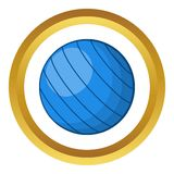 Blue volleyball ball vector icon Stock Photo