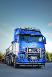 Blue Volvo FH16 Asphalt Truck Stock Photography