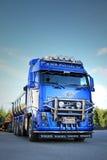 Blue Volvo FH16 Asphalt Truck Stock Photography