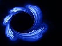 Blue vortex Stock Photo
