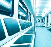 Blue wagon inside Stock Photos