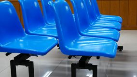 Blue waiting chair stock video