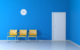 The blue waiting room Royalty Free Stock Images