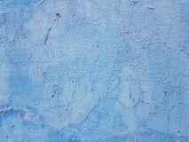 Old blue wall abstract background stock photo
