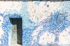 Asilah, Morocco. Blue wall in Asilah, Morocco Stock Photography