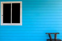 Blue wall backgroun Stock Photos