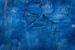 Blue Wall Background. Blue Old Wall Background Stock Photo