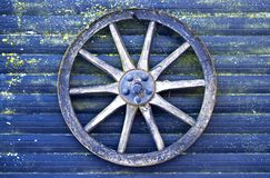 blue cart wheel Stock Photography