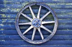blue cart wheel Stock Photography