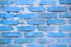 Blue wall brick work Royalty Free Stock Images