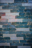 Blue wall with bricks background Royalty Free Stock Photography