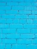 Blue wall of bricks Royalty Free Stock Photo