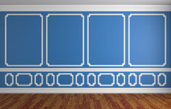 Blue wall in classic style empty room Stock Photography