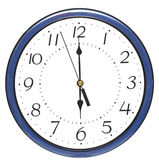 Blue wall clock Stock Images