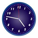 Blue wall clock Stock Photos