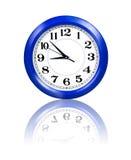Blue wall clock Stock Photography