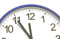 Blue wall clock Stock Image