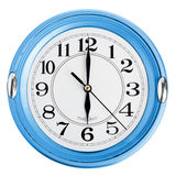 Blue wall clock Royalty Free Stock Photography
