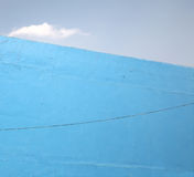 Blue wall and cloud abstract Stock Image