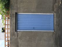 Blue, Wall, Garage, Garage Door Stock Images