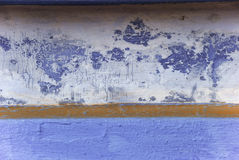 Blue wall in India. A painted wall with interesting texture Stock Photography