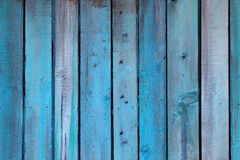 Blue wall made of wood Royalty Free Stock Photography