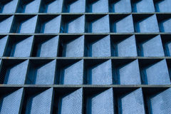 Blue wall pattern Stock Images