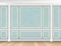 Blue wall with pilasters Royalty Free Stock Images
