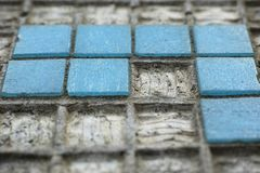 Blue, Wall, Road Surface, Cobblestone Stock Photography