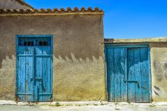 Blue, Wall, Sky, House Royalty Free Stock Images