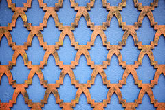 Blue wall with texture Stock Photos