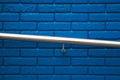 Blue wall texture pattern. In the street royalty free stock photos