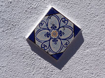 Blue wall tile Royalty Free Stock Photo
