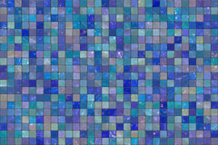 Blue wall tiles Royalty Free Stock Photography