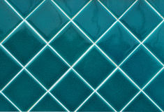 Blue wall tiles Royalty Free Stock Photos
