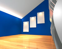 Blue wall wave gallery Stock Images