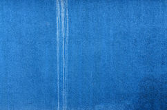 Blue Wall with white trickle. Horizontal. Background Royalty Free Stock Photography