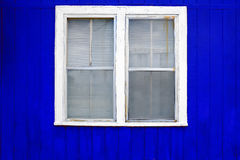 Blue Wall White Window Stock Photography