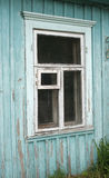 Blue wall and  window Royalty Free Stock Image