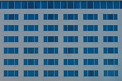 Blue Wall of Windows Stock Photo