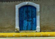 Blue, Wall, Yellow, Window stock image