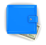 Blue wallet Royalty Free Stock Photos
