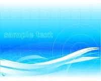 Blue wallpaper vector illustration