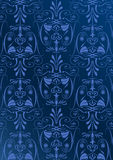 Blue wallpaper with arabesques Royalty Free Stock Photo