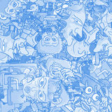 Blue wallpaper character Stock Image