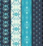 Blue wallpaper pattern Stock Photos