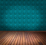 Blue wallpaper room Stock Photography