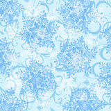 Blue wallpaper & snowflakes Royalty Free Stock Photography